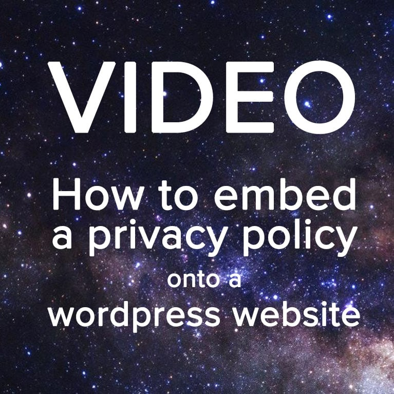 How to embed a privacy policy onto a wordpress website