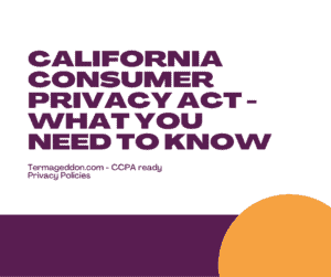 california consumer privacy act summary