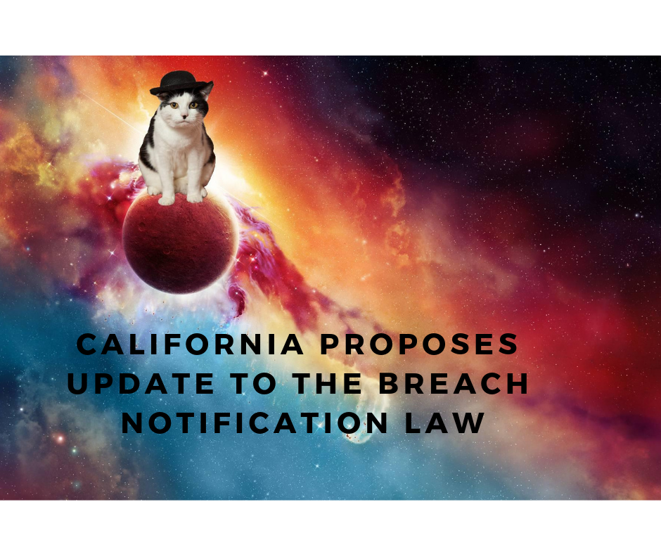 California proposes update to the breach notification law