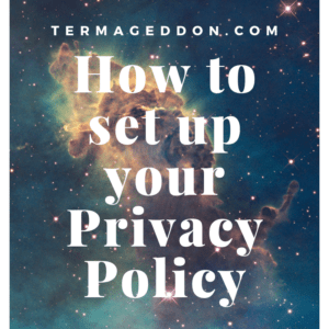 Set up your Privacy Policy
