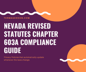 Nevada Privacy Law Revised Statutes Chapter 603A