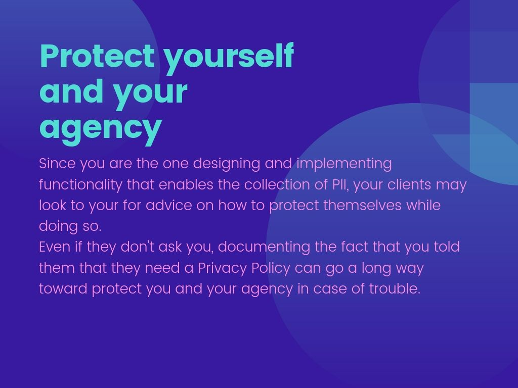 Protect yourself and your agency