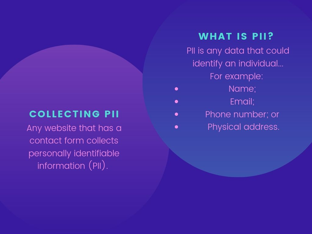 What is PII and what is collecting PII?