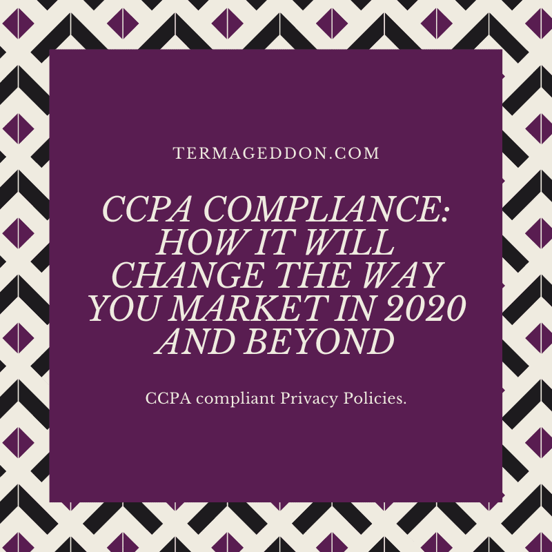 How CCPA compliance affects marketing