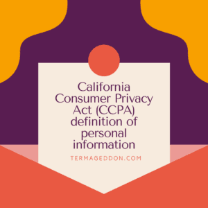 CCPA definition of personal information