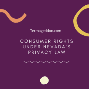 consumer rights under Nevada privacy law