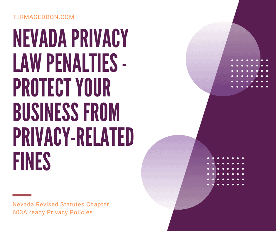 Nevada privacy law penalties