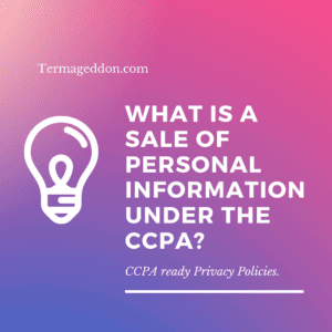 Sale of personal information under CCPA