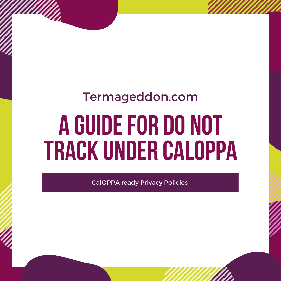 A guide for Do Not Track under CalOPPA