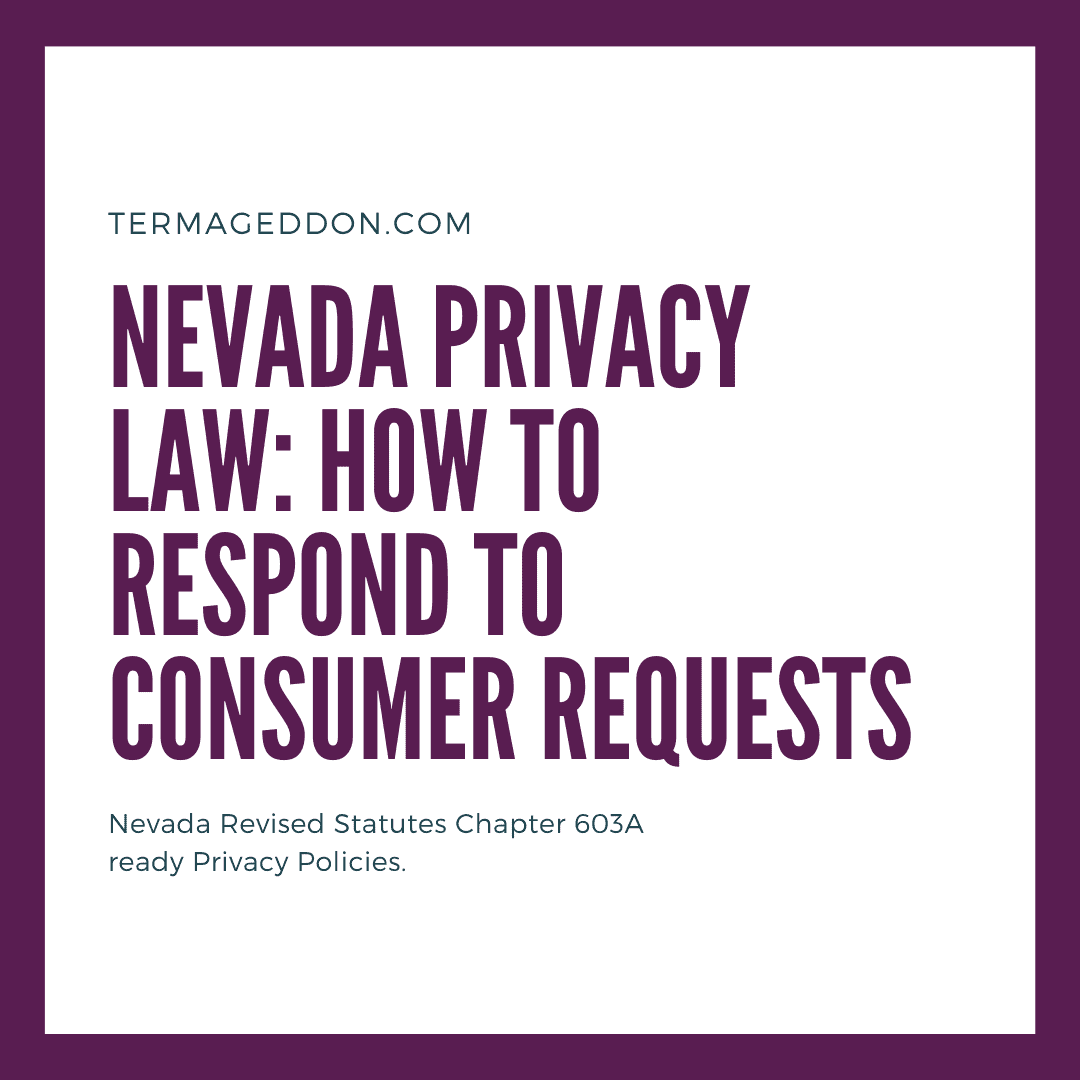 Nevada 603a: how to respond to consumer requests