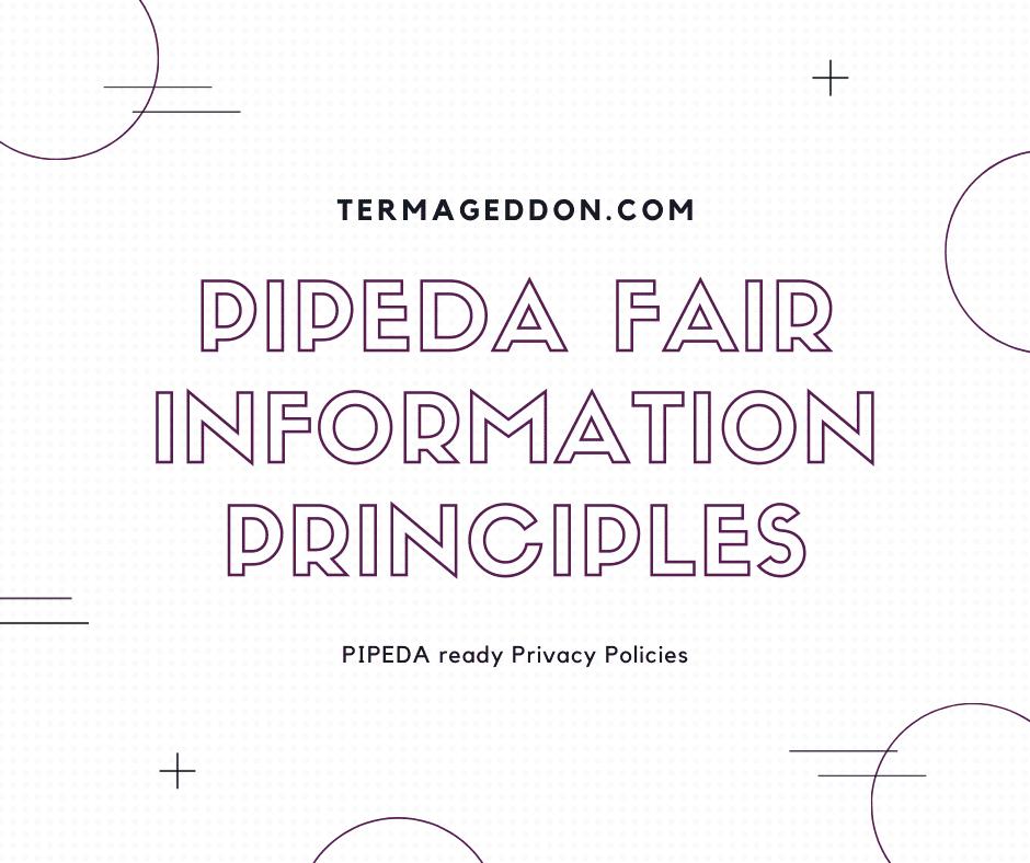 PIPEDA fair information principles