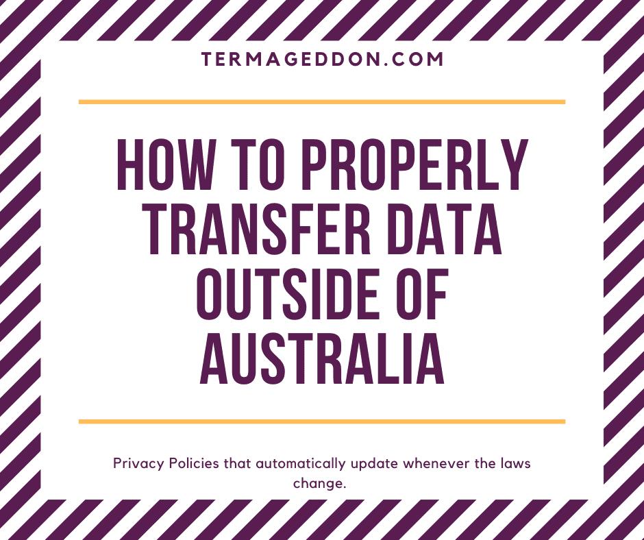 Transferring data outside of Australia