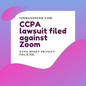 CCPA lawsuit filed against Zoom