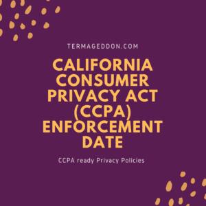 CCPA enforcement date