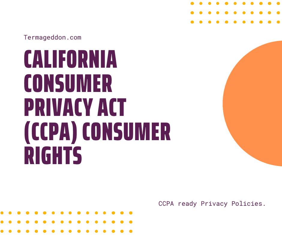 CCPA consumer rights