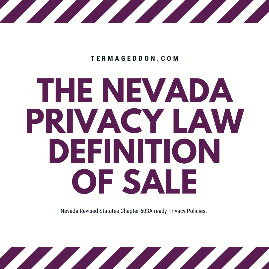 The Nevada privacy law definition of sale