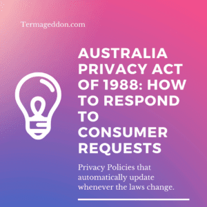 Australia privacy act consumer requests