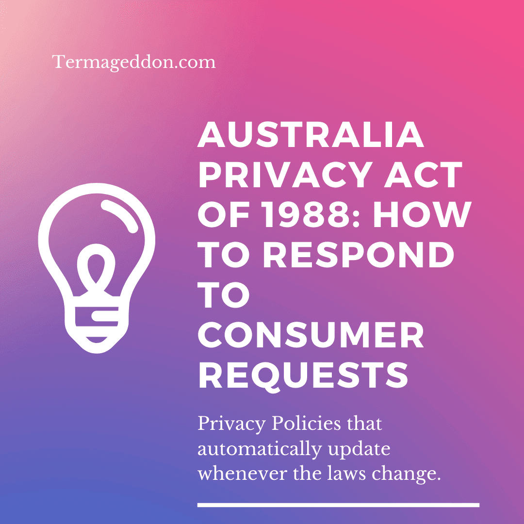 Australia privacy act consumer requests