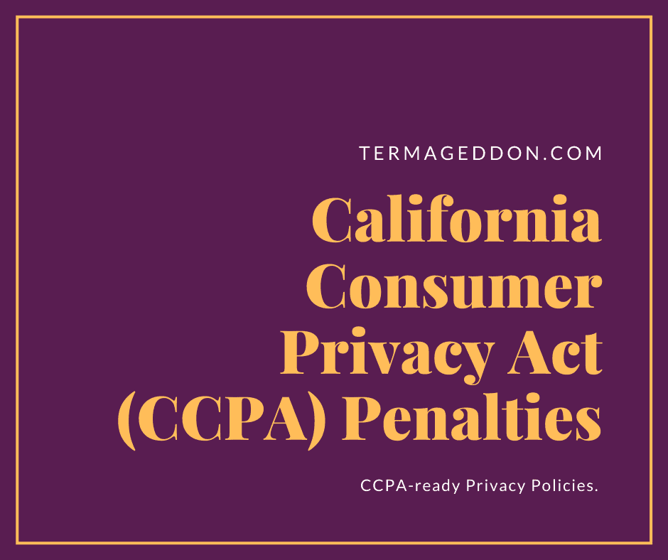 CCPA penalties