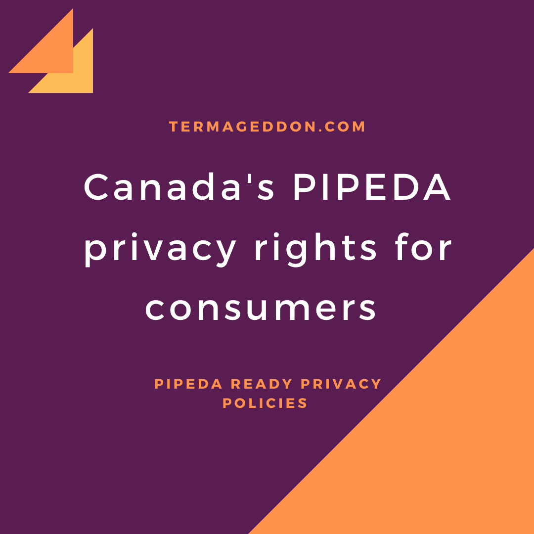 PIPEDA rights for consumers