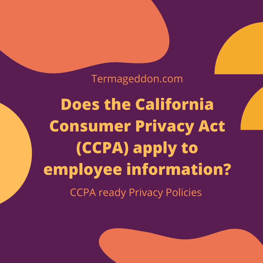 Does the CCPA apply to employee information
