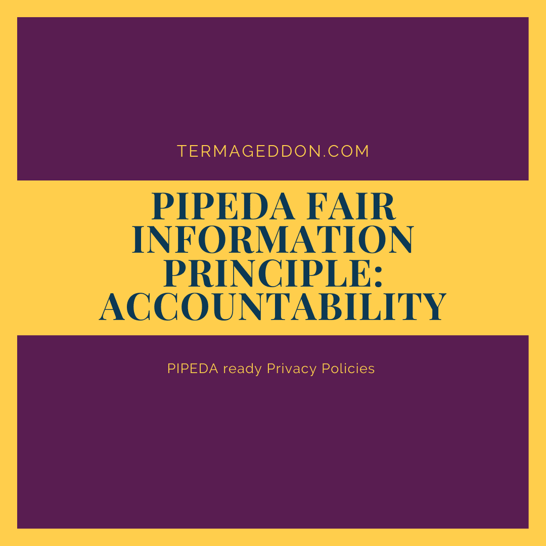 PIPEDA Fair Information Principle: Accountability