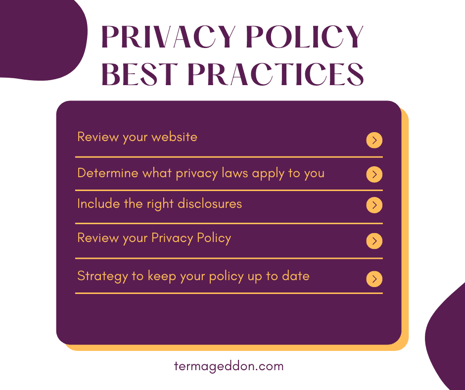 Termageddon Privacy Policy best practices